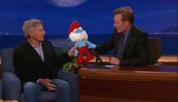 "Harrison Ford Goes All ""Sub-Zero"" on Papa Smurf on Conan"