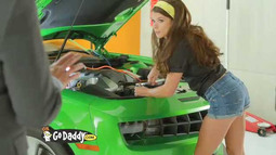 Exclusive Danica Patrick Go Daddy Commercial Sneak Peek