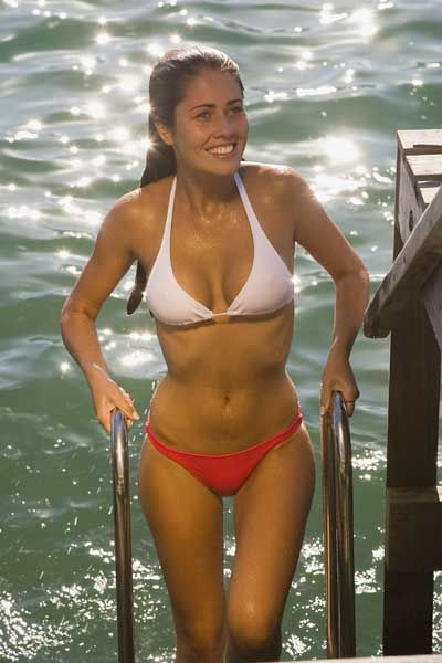 So the tough question of the week - Which girl looks hottest in a wet bikini ...