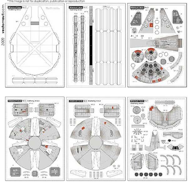 Как сделать сокола тысячелетия из бумаги