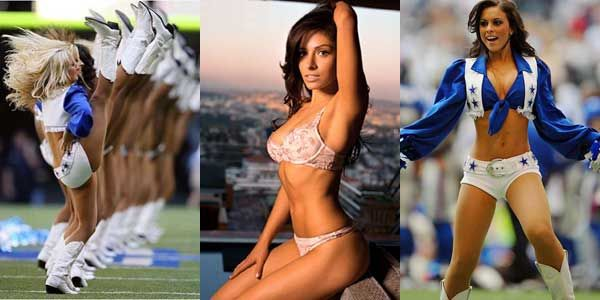 1970s Dallas Cowboys Cheerleaders http://www.spike.com/articles/f180s1/top-10-hottest-nfl-cheerleaders