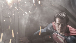 First Look at Henry Cavill as Superman in Man of Steel