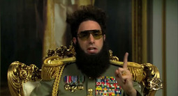 The Dictator General Aladeen (Sacha Baron Cohen) Responds to Oscar Ban