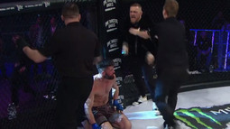 Conor McGregor makes an appearance in the cage at Bellator 187
