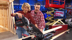 Jenna Elfman Shows Her Skills With A Chop Saw