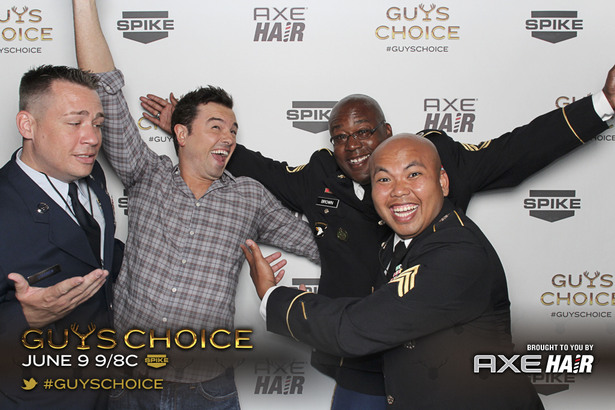Backstage At Guys Choice In The Axe® Hair Photobooth
