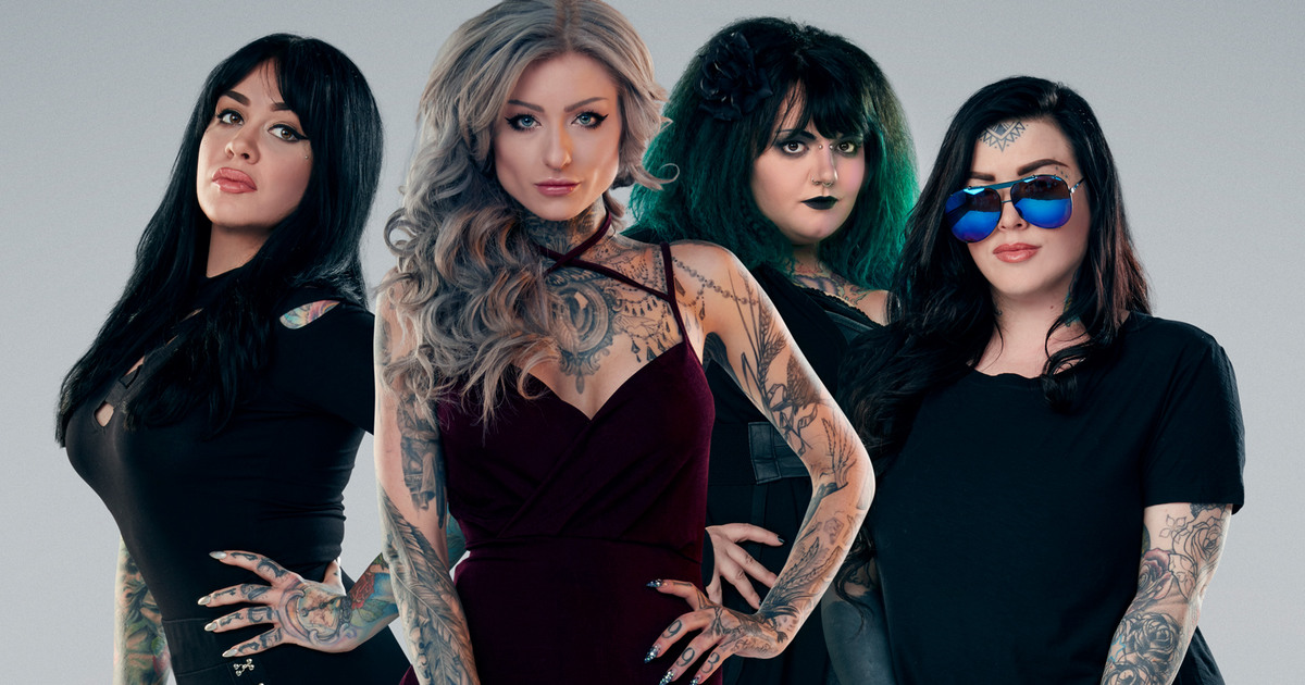 Ink master angels for Tv show with tattooed woman
