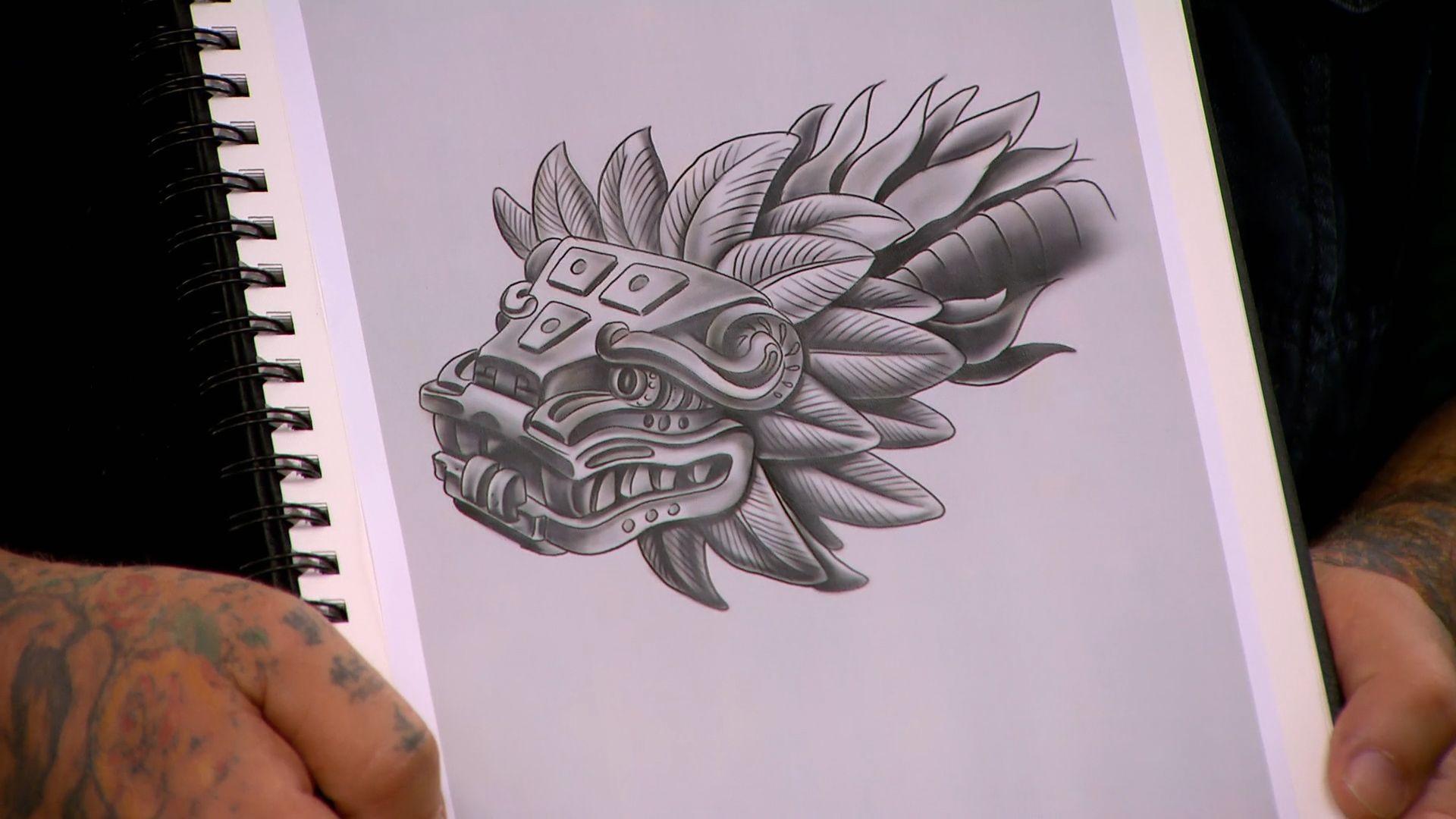 3 canvases 9 tattoo designs ink master redemption spike. Black Bedroom Furniture Sets. Home Design Ideas