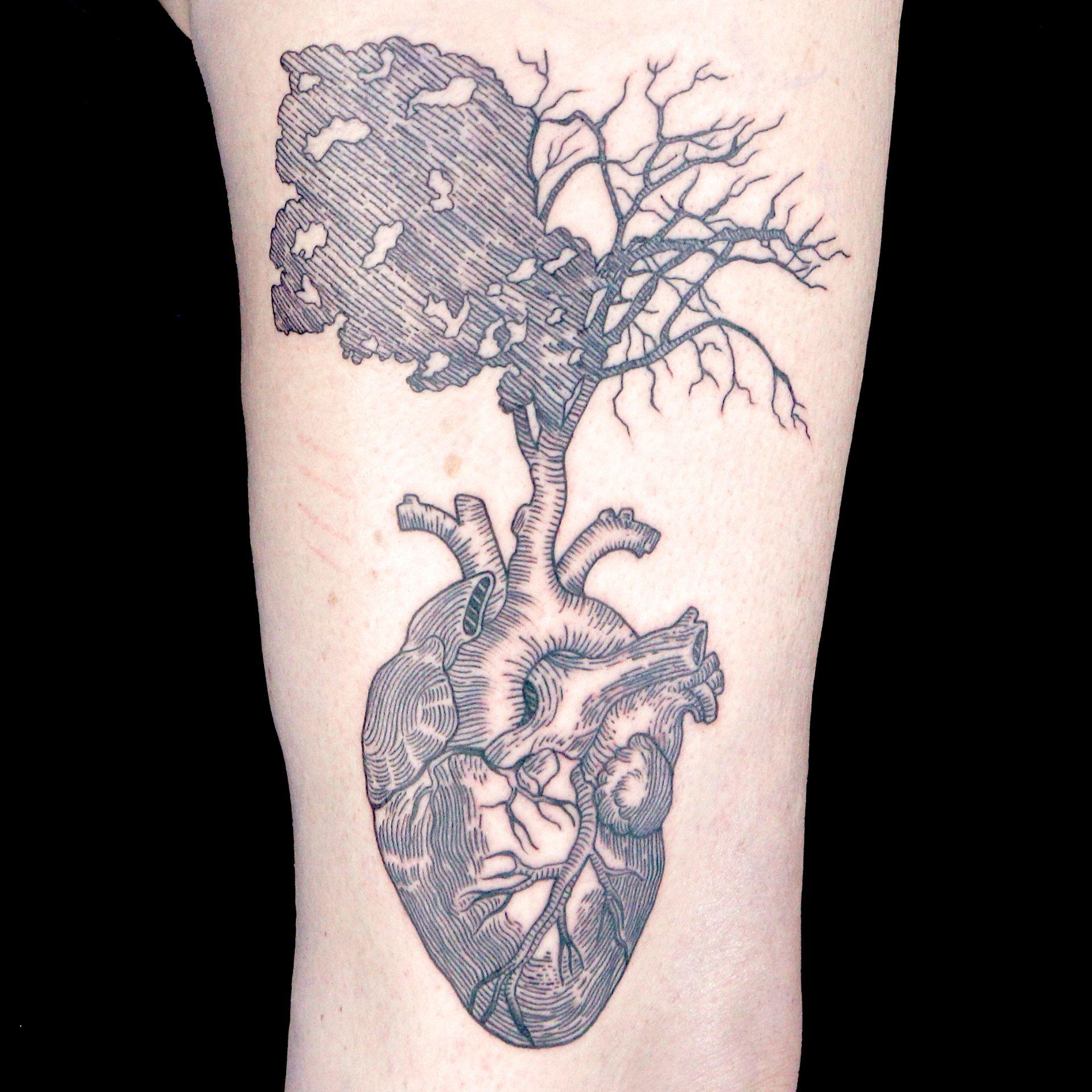 Elimination tattoo illustrative blackwork ink master for Black anchor collective tattoo