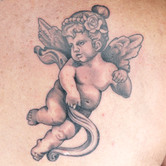 Elimination Tattoo: Black & Grey Cherubs