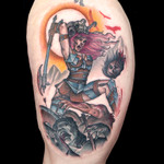 Elimination Tattoo: Color Realistic Battle Scene